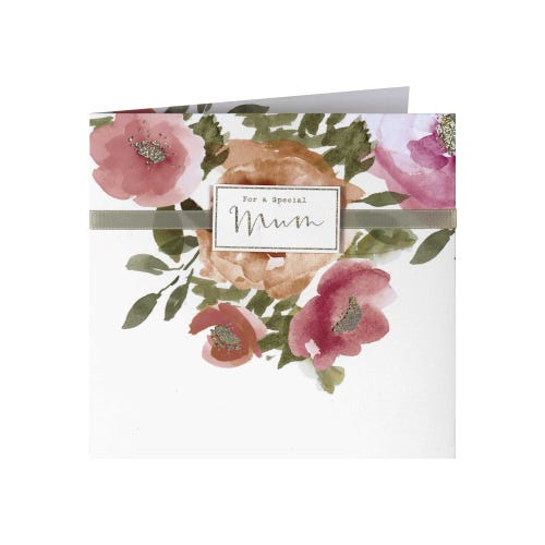 Watercolour Flowers Mother's Day Card