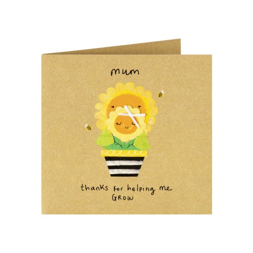 Sunflowers Helping Me Grow Mother's Day Card