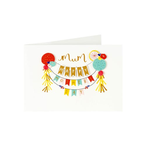 Colourful Bunting Mother's Day Card