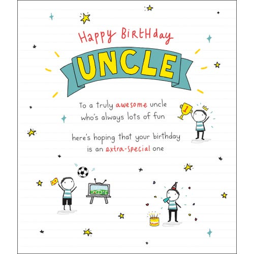 Uncle Birthday Banner Oodles Card