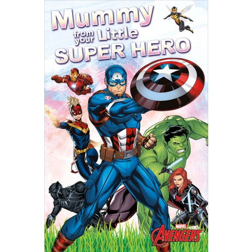 Mummy From Your Son Birthday Card Super Hero Avengers
