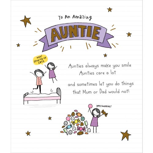 Auntie Birthday Card To An Amazing Auntie