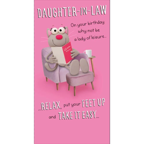 Daughter In Law Birthday Card Lady Of Leisure