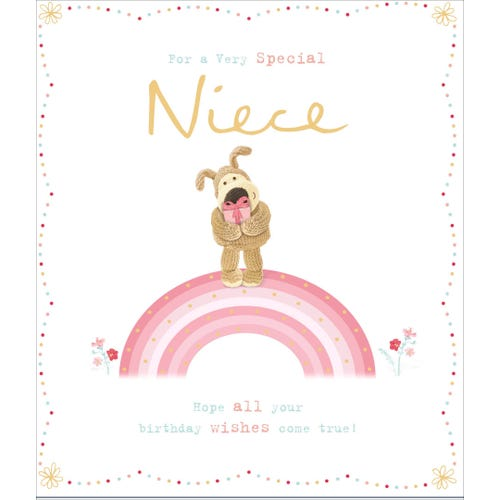 Niece Birthday Card Boofle Rainbow