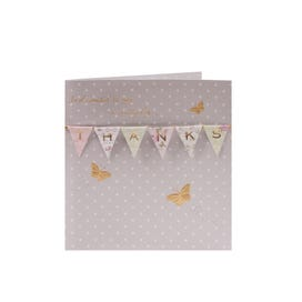 Floral Bunting Thank You Card
