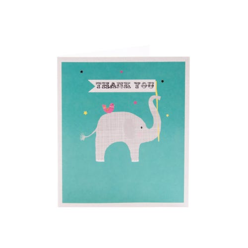 Simply Elephant Thank You Card