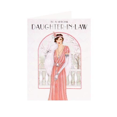Daughter In Law Birthday Card Deco Lady In Archway