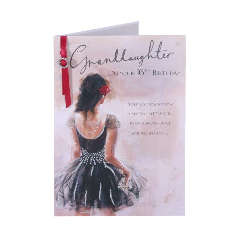 Granddaughters Prom Dress - Birthday Card