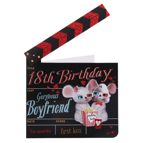 Movie Clapper First Kiss Boyfriend 18th Birthday