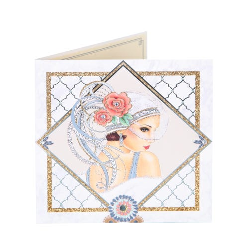 Deco Lady In Diamond Birthday Card