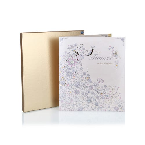 Clintons Collection On Your Birthday Fiancee Luxury Boxed Birthday Card