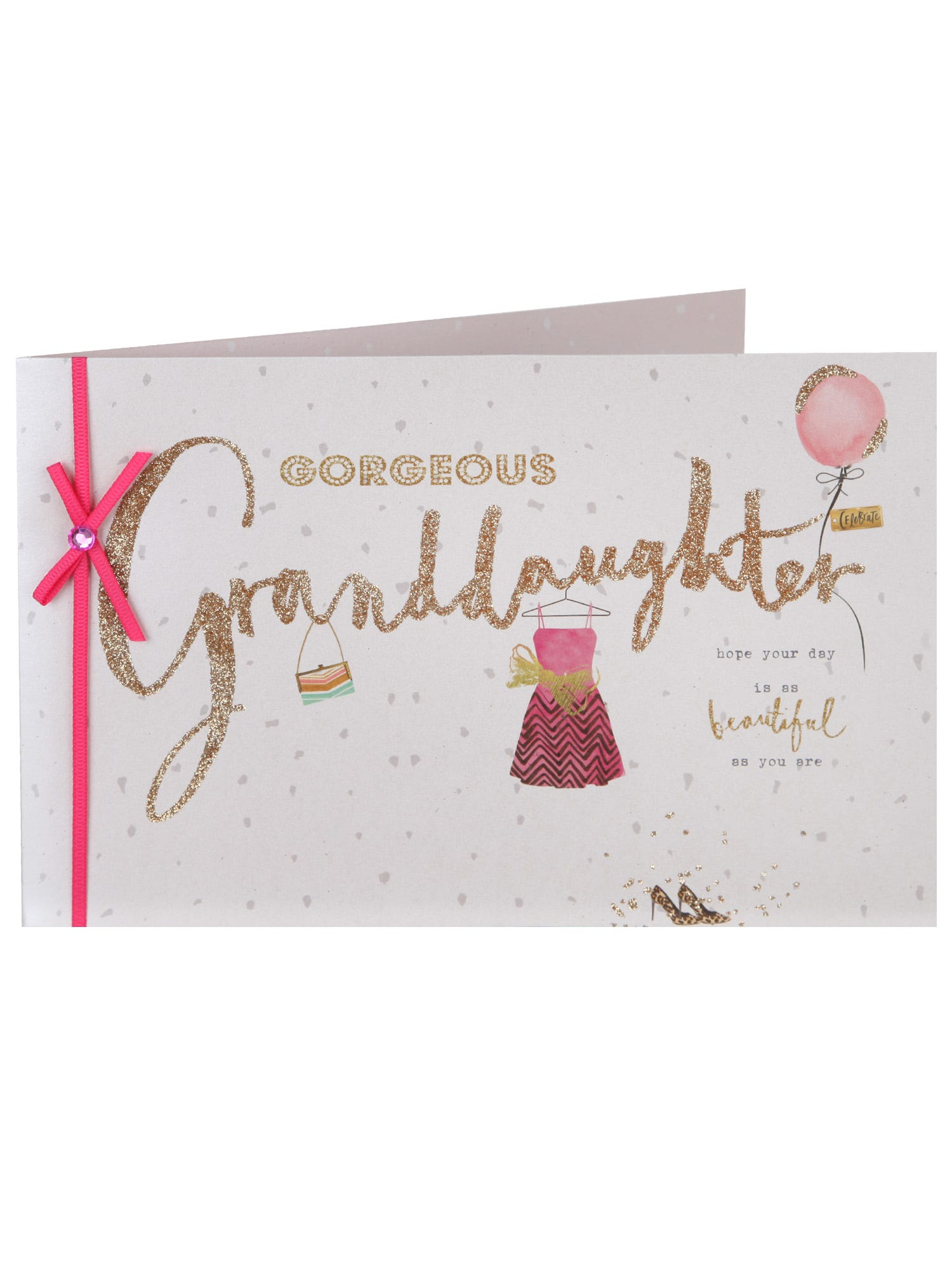 Deco Birthday Card For Special Granddaughter