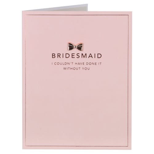 A La Mode Thank You Bridesmaid Card