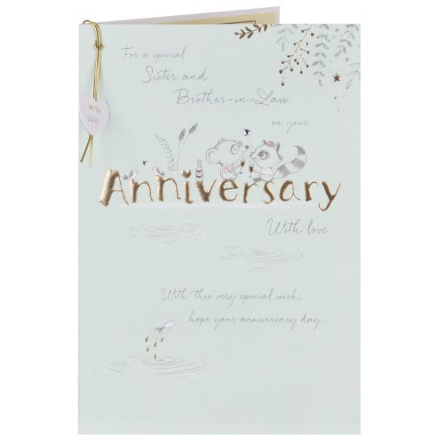 Sister & Brother- In-Law Anniversary Card