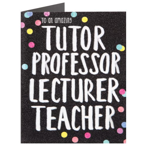 Amazing Tutor, Professor, Lecturer, Teacher Thank You Card