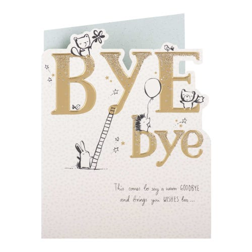 Cute Characters Goodbye Card