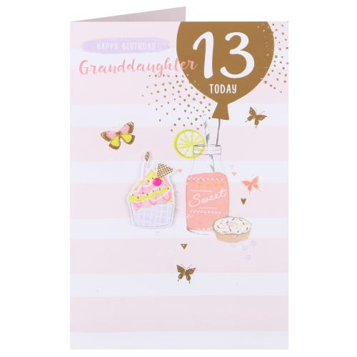 Sweet Treats - Granddaughter Age 13 Birthday Card
