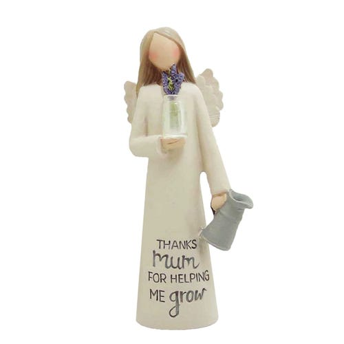Feather & Grace - Mum Angel With Flowers Figurine