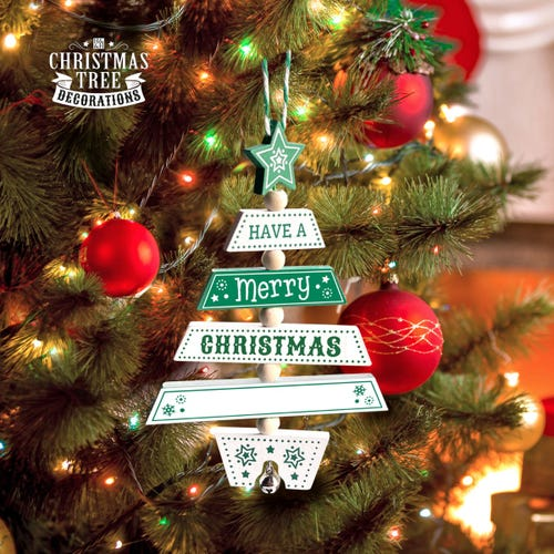 Personalised Named Christmas Tree Decoration For Boys