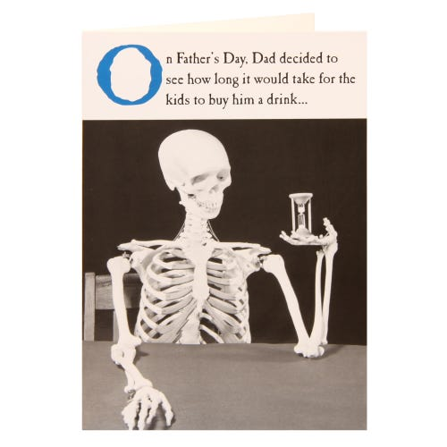 Skeleton Humour Father's Day Card