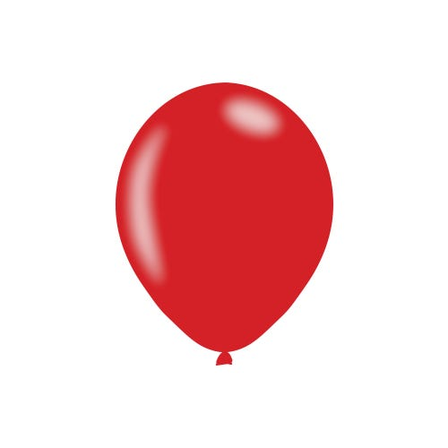 Metallic Red Latex Balloons - 6 Pack