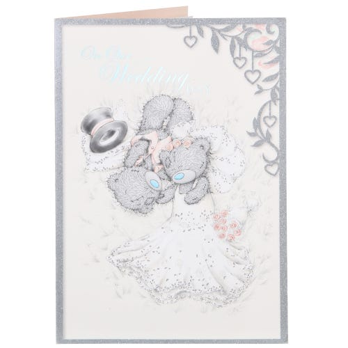 Me to You Bride And Groom Lying Down Wedding Day Card