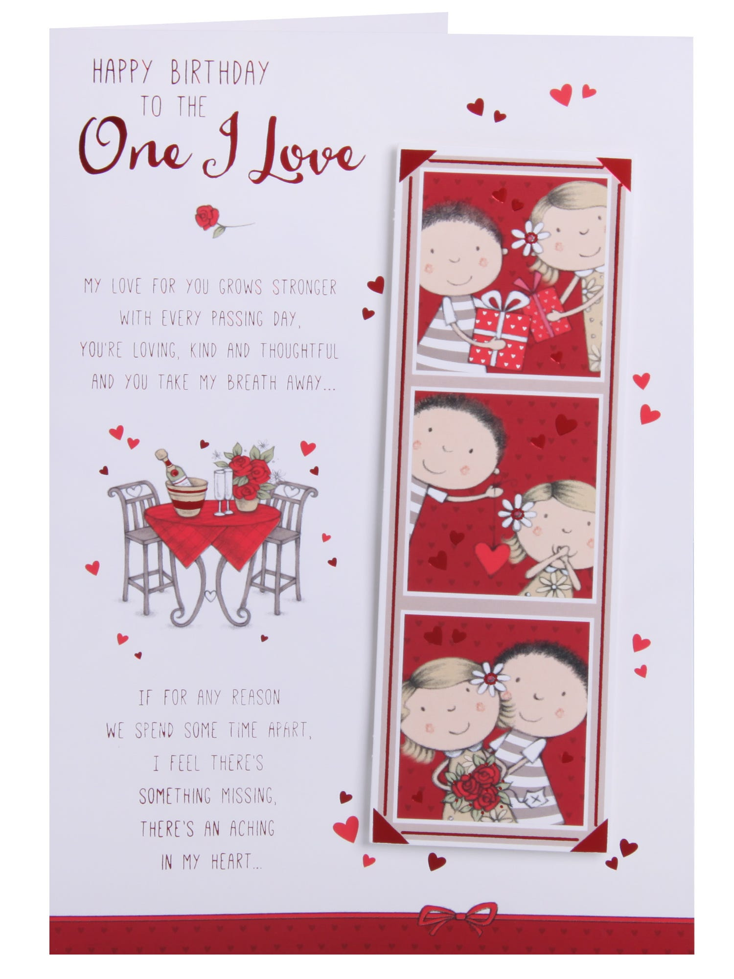 Romantic Meal For Two One I Love Birthday Card