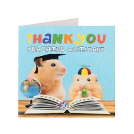 Hamsters Thank You Teaching Assistant Card