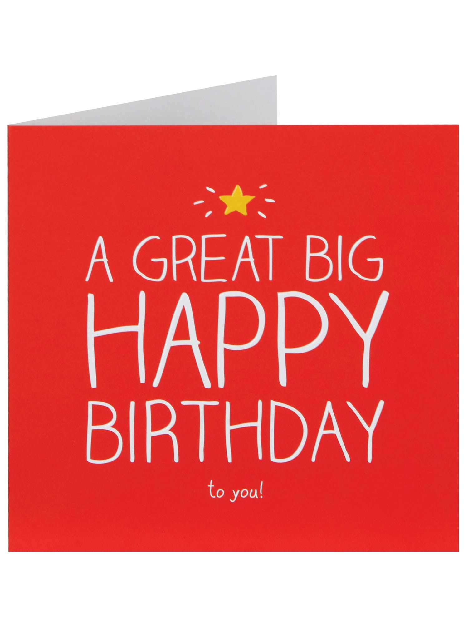 Braille Big Birthday Card | Clintons
