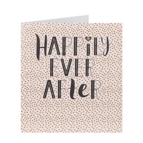 Happily Ever After Wedding Day Card