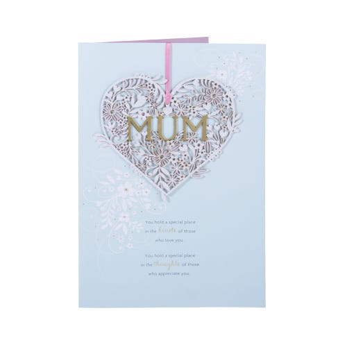 Hanging Heart - Mum Birthday Card