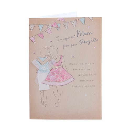 Hand In Hand Special Mum Birthday Card