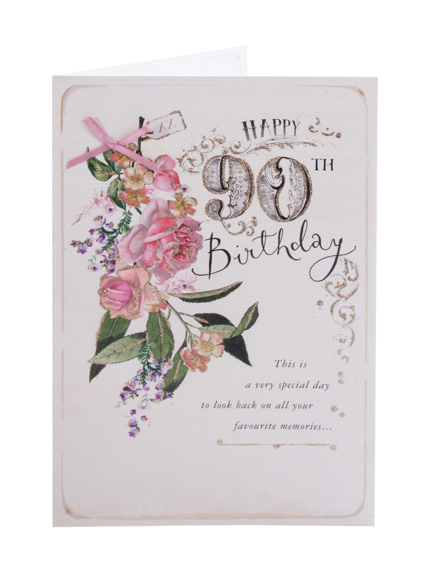 Gorgeous Clintons Collection 90th Birthday Card