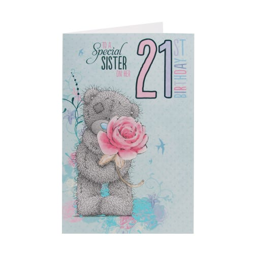 Me To You Teddy & Rose Sister 21st Birthday Card