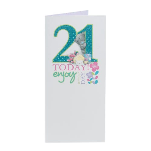 Glitter Lettering Compact 21st Birthday Card
