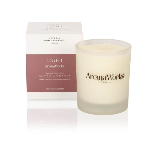 AromaWorks 220g Amyris & Orange Candle