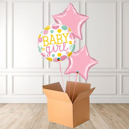 Baby Girl Dots Foil Bouquet