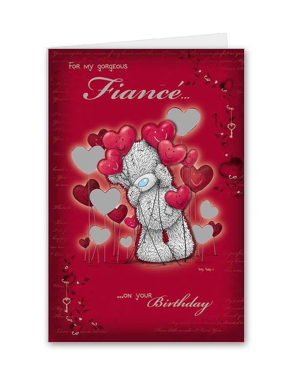 my special fiance birthday card clintons