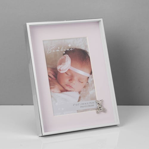 Pink Bambino Silverplated Frame