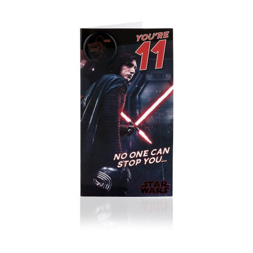 Star Wars Kylo Ren 11th Birthday Card