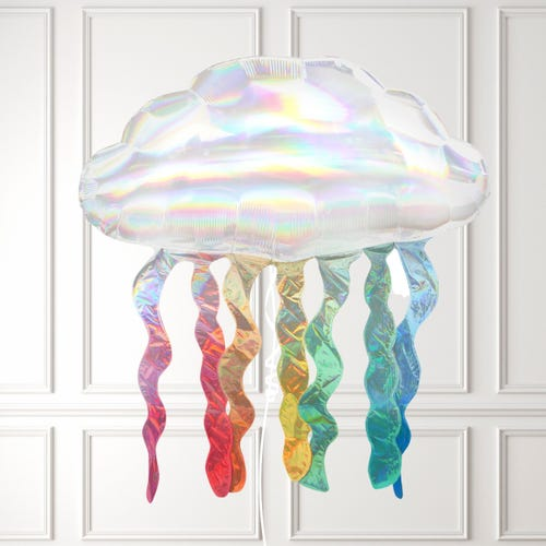 Cloud with Iridescent Streamers Balloon