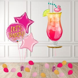 Tropical Cocktail Balloon Package