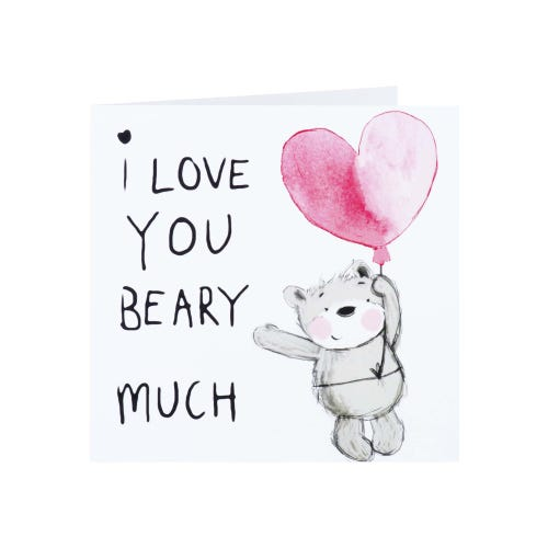 Love You Beary Much Valentine's Day Card
