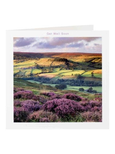 Yorkshire Landscape Photograph Get Well Soon Card