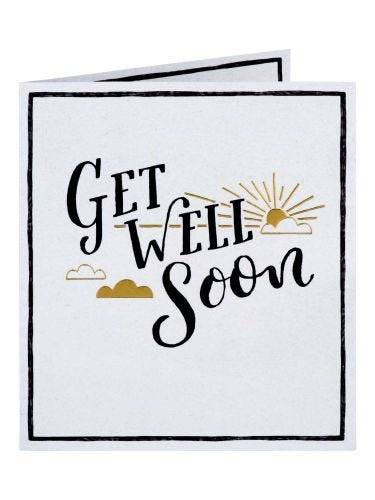 Sunshine & Clouds Get Well Soon Card