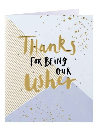Thanks For Being Our Usher Typography And Pattern Card