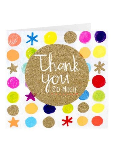 Paper Salad Thank You Card