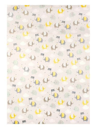 Baby Boy Elephant Design Single Sheet Wrapping Paper