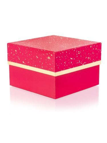 Pink With Gold Medium Gift Box