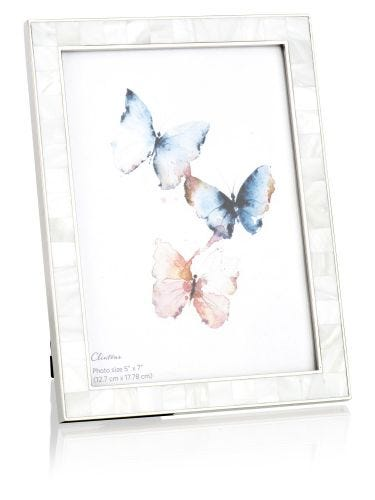 """Oyster Pearl Effect 7"""" x 5"""" Photo Frame"""